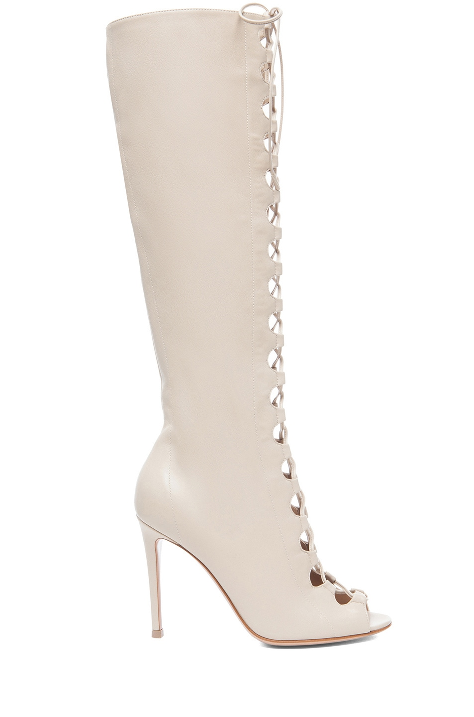 Image 1 of Gianvito Rossi Nappa Leather Lace Up Boots in Corda