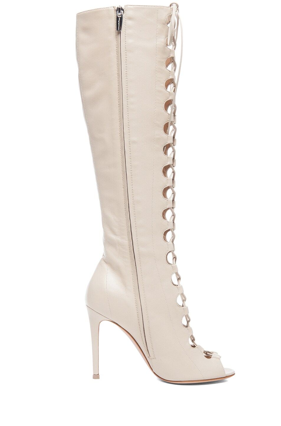 Image 5 of Gianvito Rossi Nappa Leather Lace Up Boots in Corda