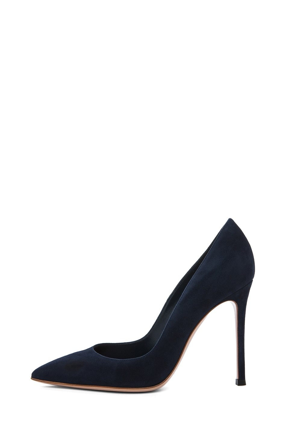 Image 1 of Gianvito Rossi Suede Pump in Navy