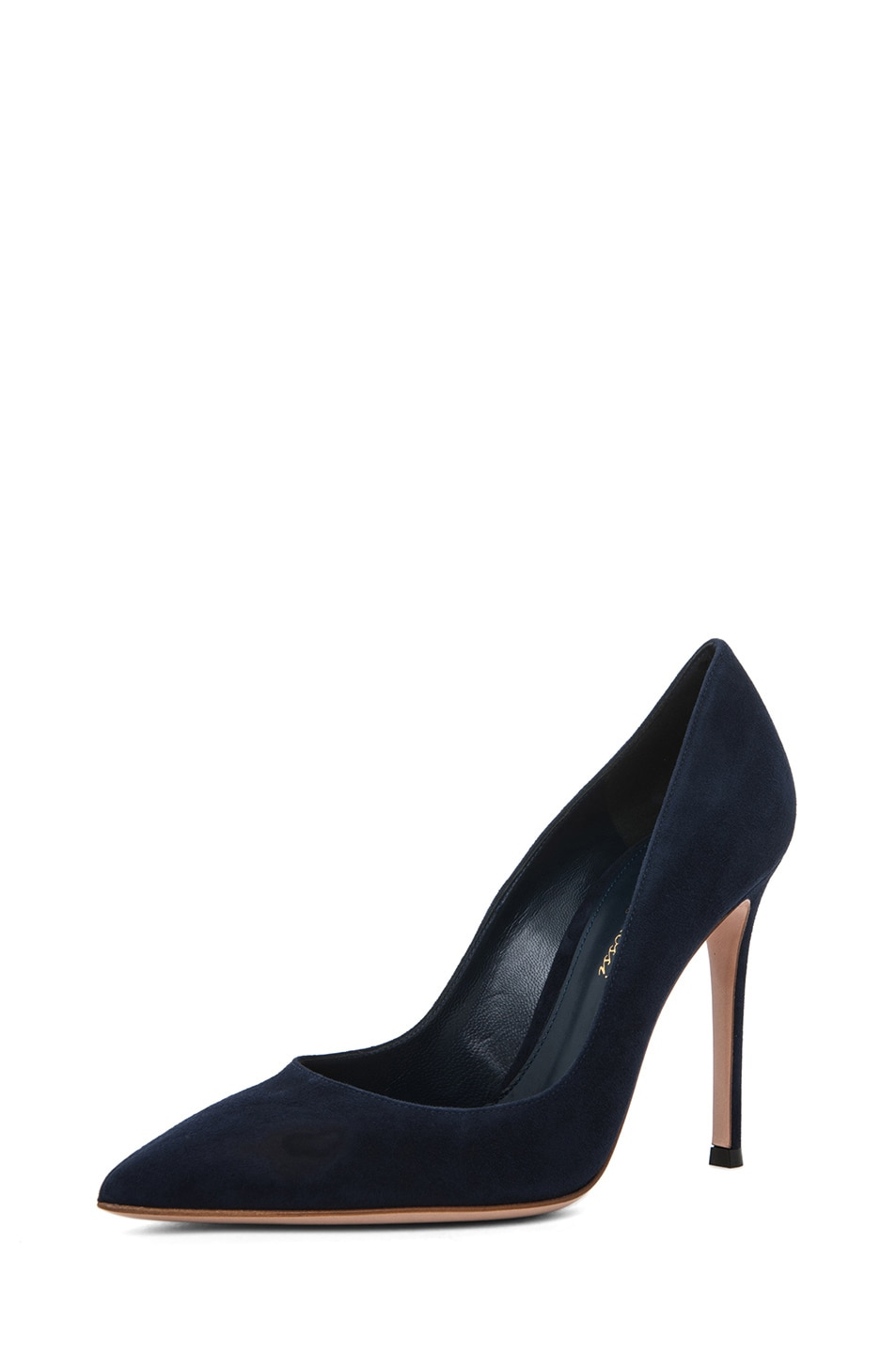 Image 2 of Gianvito Rossi Suede Pump in Navy