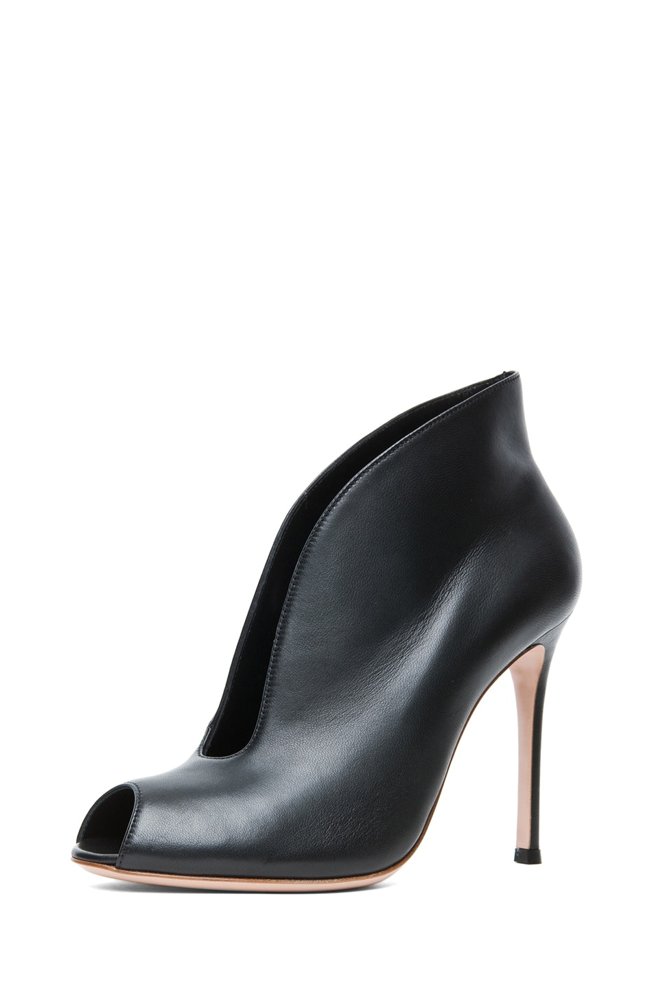 Image 2 of Gianvito Rossi Nappa Leather Booties in Black