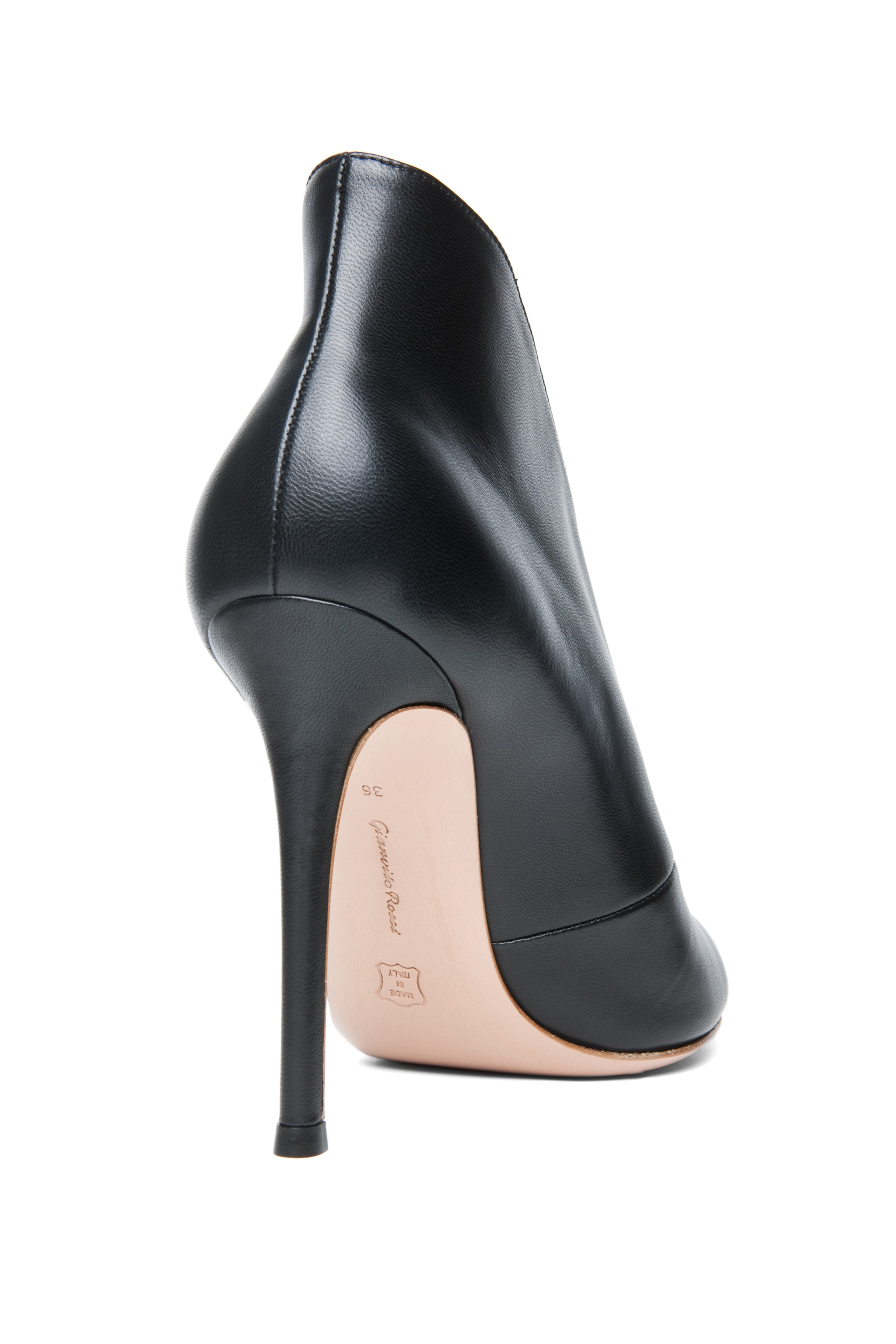 Image 3 of Gianvito Rossi Nappa Leather Booties in Black