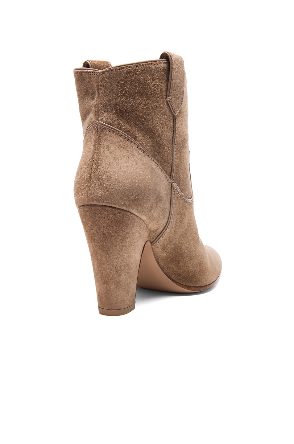 Image 3 of Gianvito Rossi Western Suede Booties in Suede Bisque