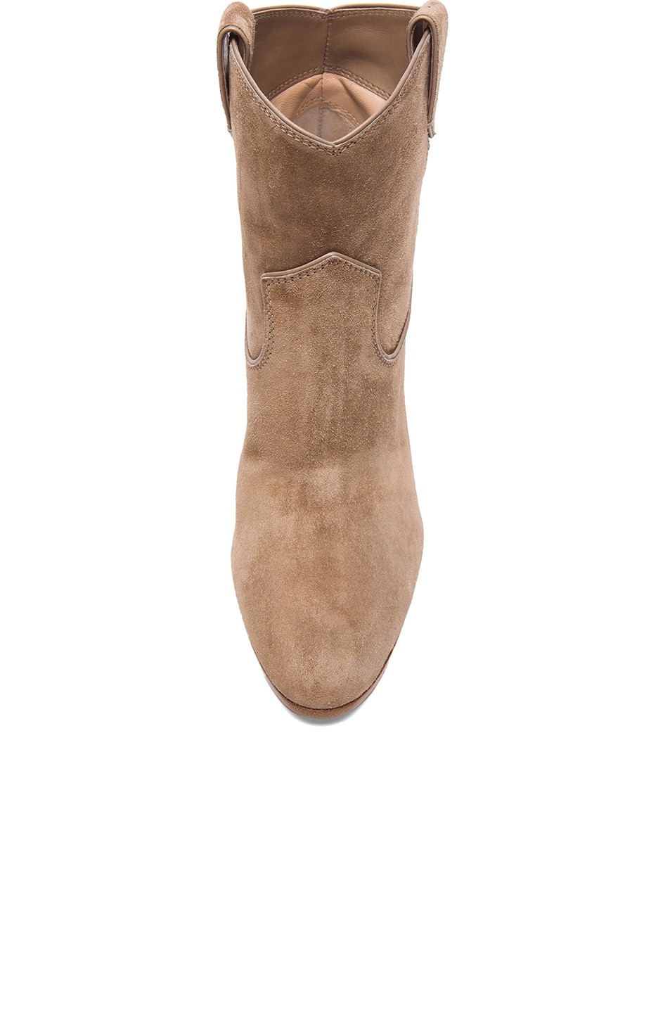 Image 4 of Gianvito Rossi Western Suede Booties in Suede Bisque
