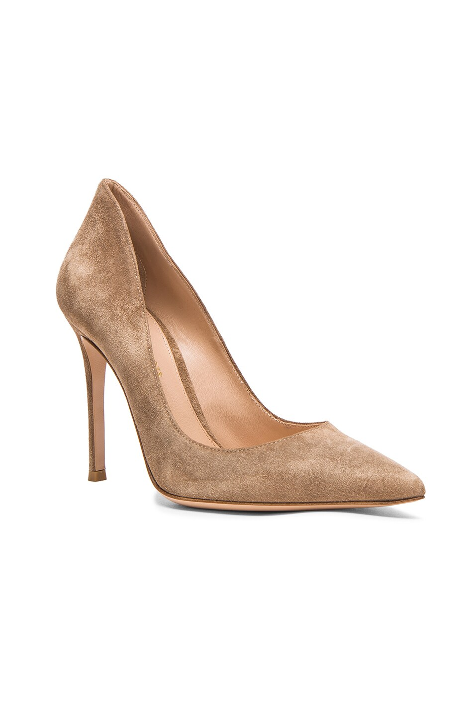 Image 2 of Gianvito Rossi Suede Gianvito Pumps in Bisque