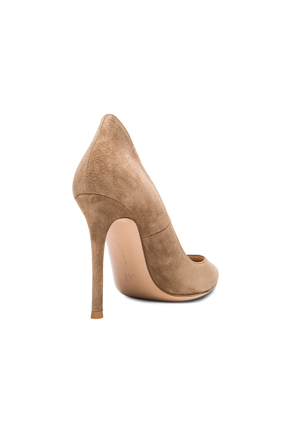 Image 3 of Gianvito Rossi Suede Gianvito Pumps in Bisque