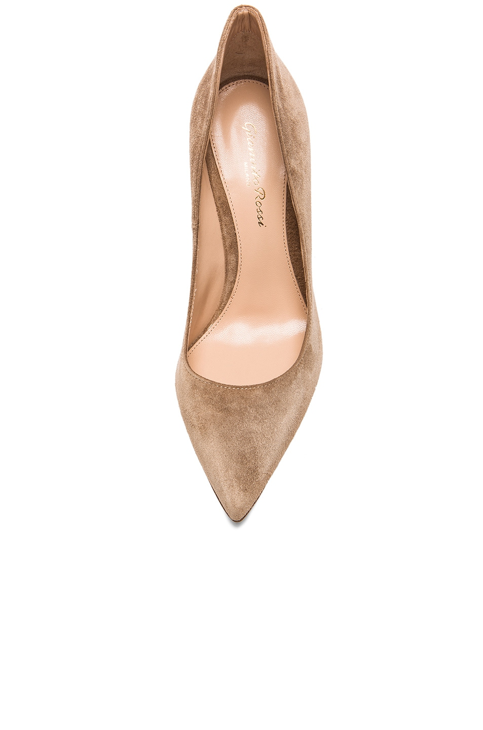 Image 4 of Gianvito Rossi Suede Gianvito Pumps in Bisque