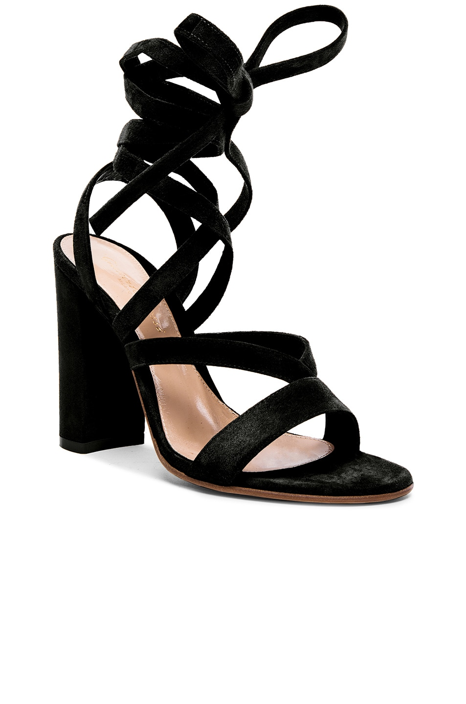 Image 2 of Gianvito Rossi Suede Sandals in Black