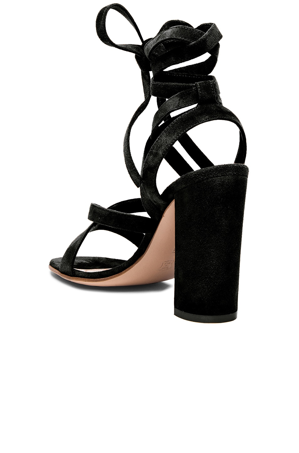 Image 3 of Gianvito Rossi Suede Sandals in Black