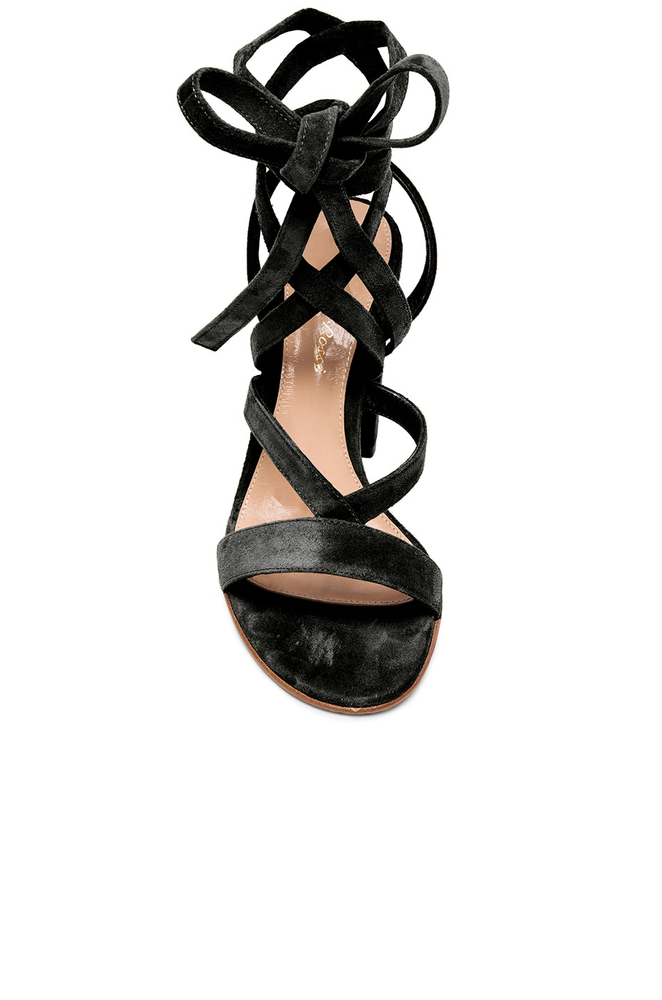 Image 4 of Gianvito Rossi Suede Sandals in Black
