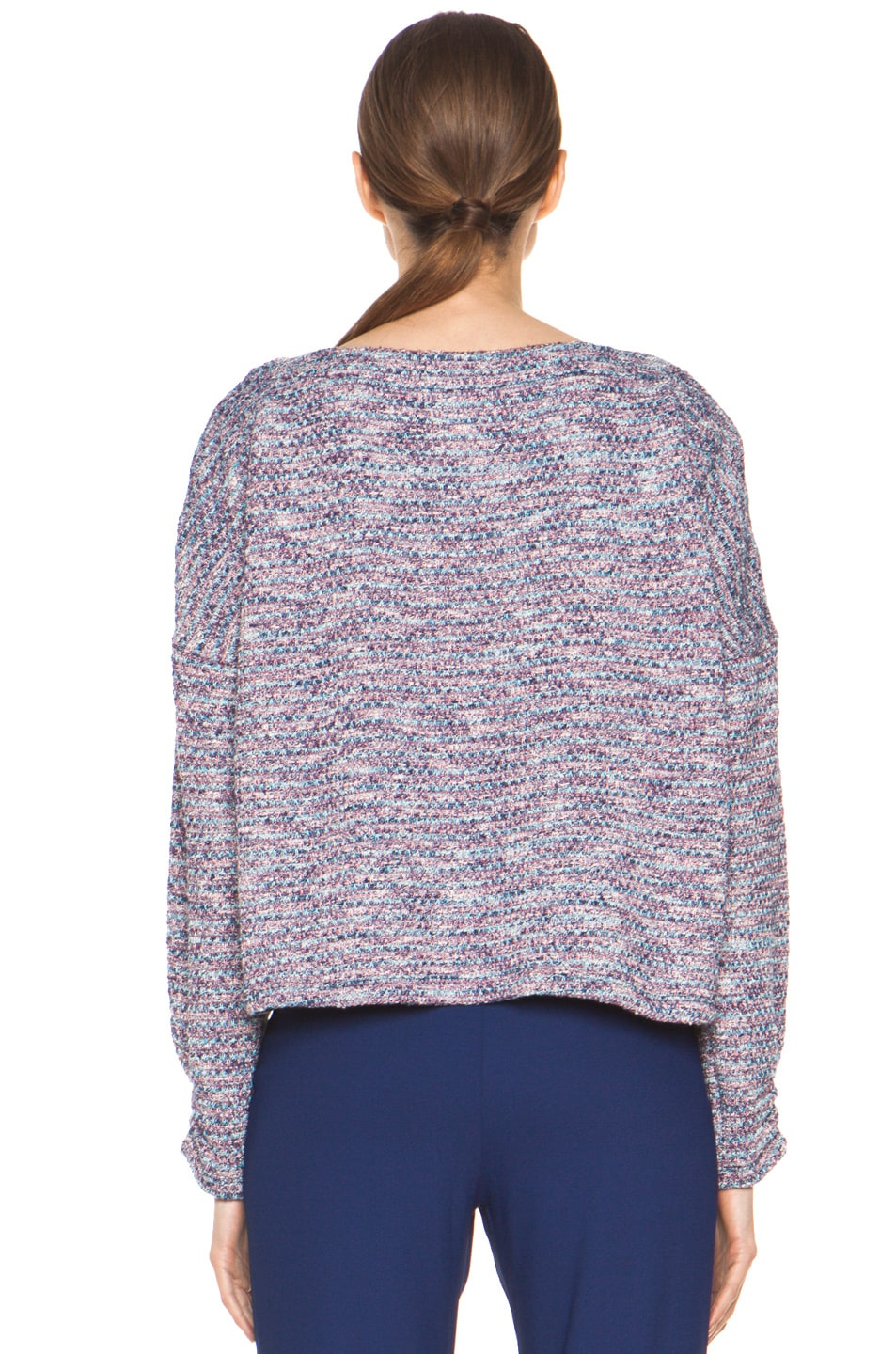 Image 5 of Girl. by Band of Outsiders Knit Tweed Sweater in Multi