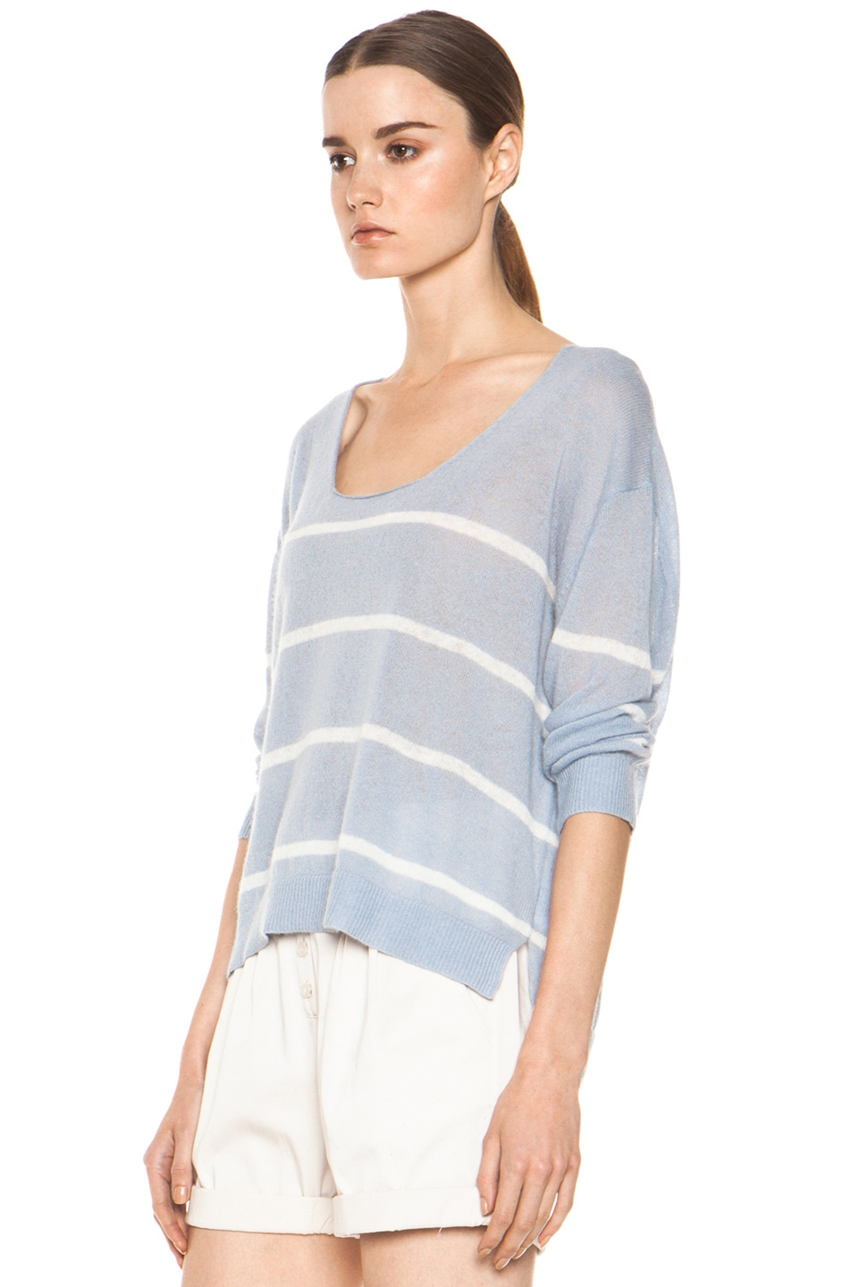 Image 2 of Girl. by Band of Outsiders Plush Pullover in Pearl Blue