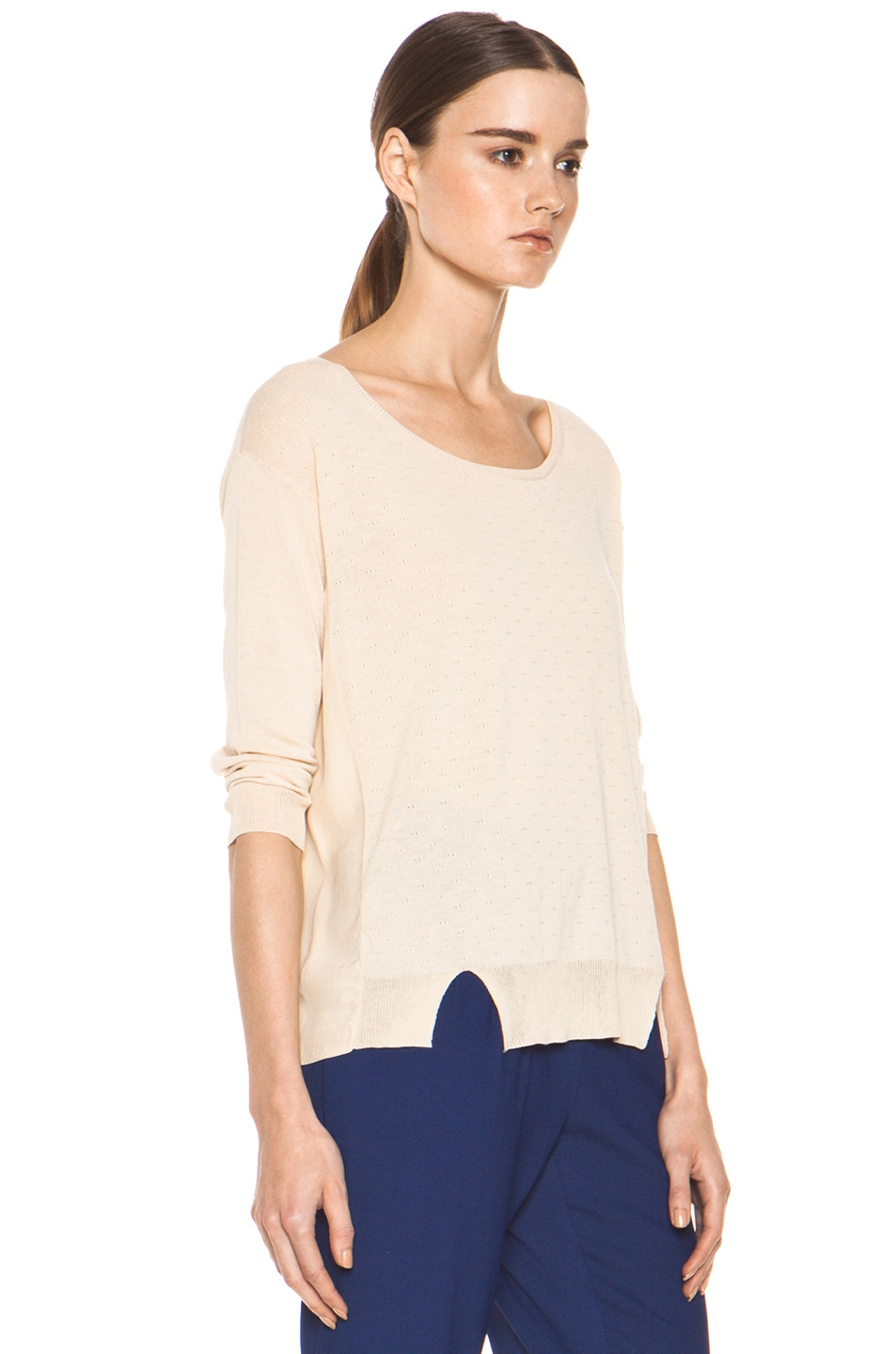 Image 3 of Girl. by Band of Outsiders Malibu Basic Sweater in Nude