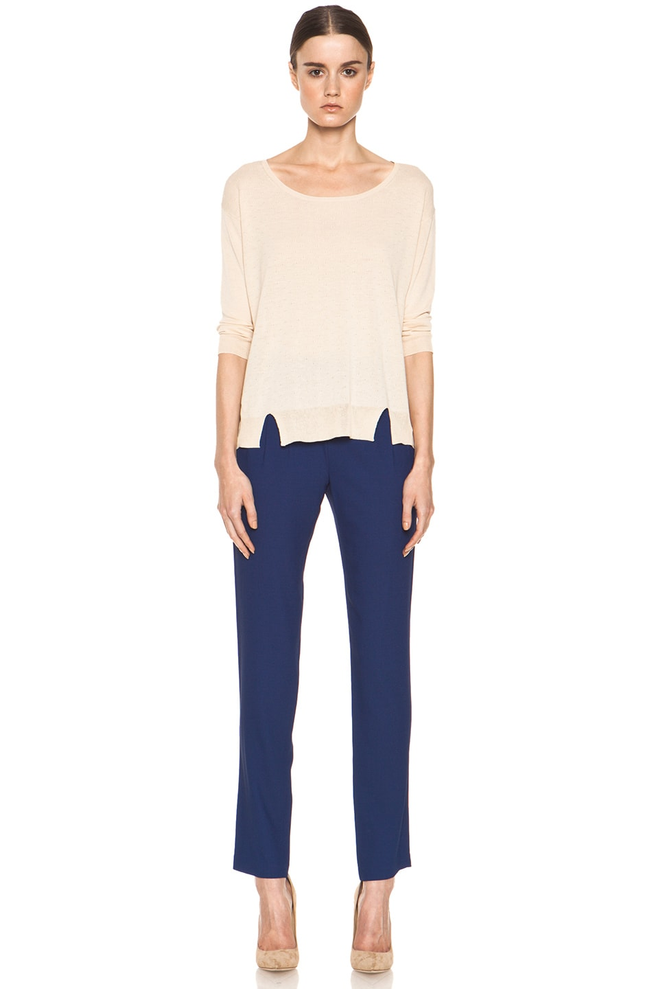 Image 5 of Girl. by Band of Outsiders Malibu Basic Sweater in Nude