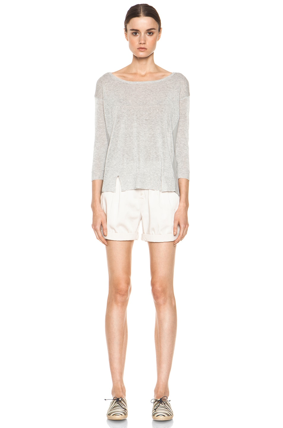 Image 5 of Girl. by Band of Outsiders Malibu Basic Sweater in Grey Heather
