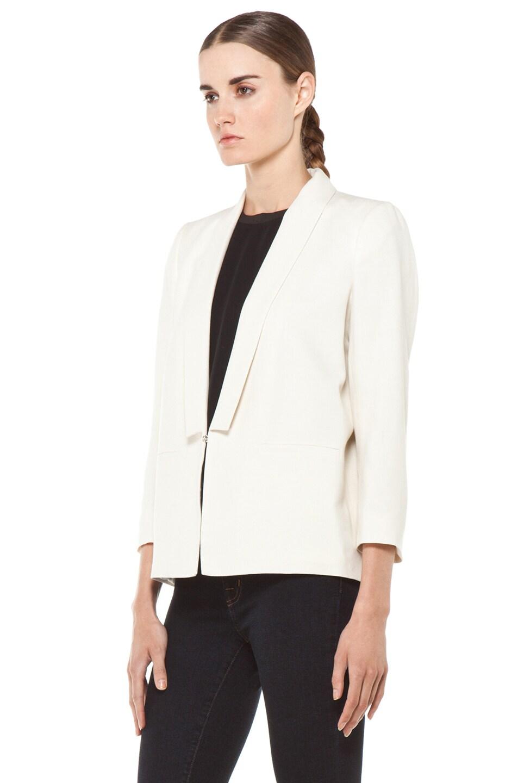 Image 3 of Girl Shawl Collar Blazer in Natural