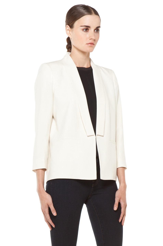 Image 4 of Girl Shawl Collar Blazer in Natural