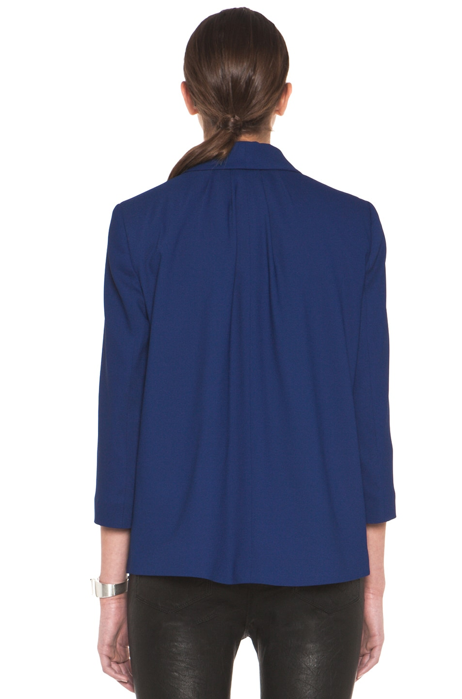 Image 5 of Girl. by Band of Outsiders Shawl Collar Blazer in Twilight Blue