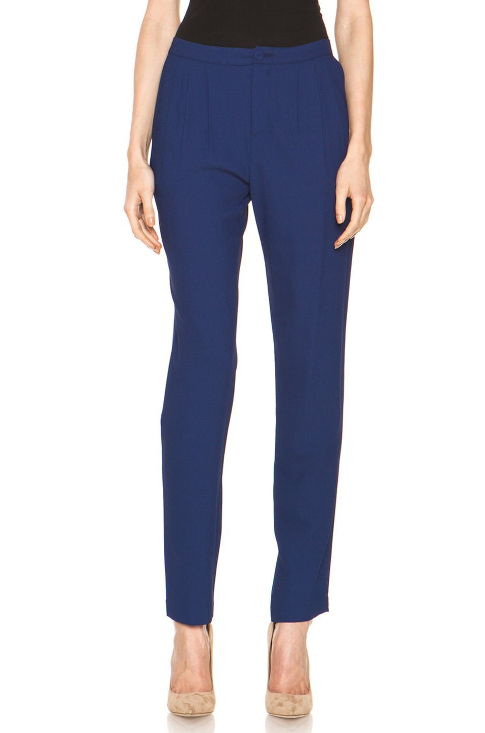 Image 1 of Girl. by Band of Outsiders Ami Pant in Twilight Blue