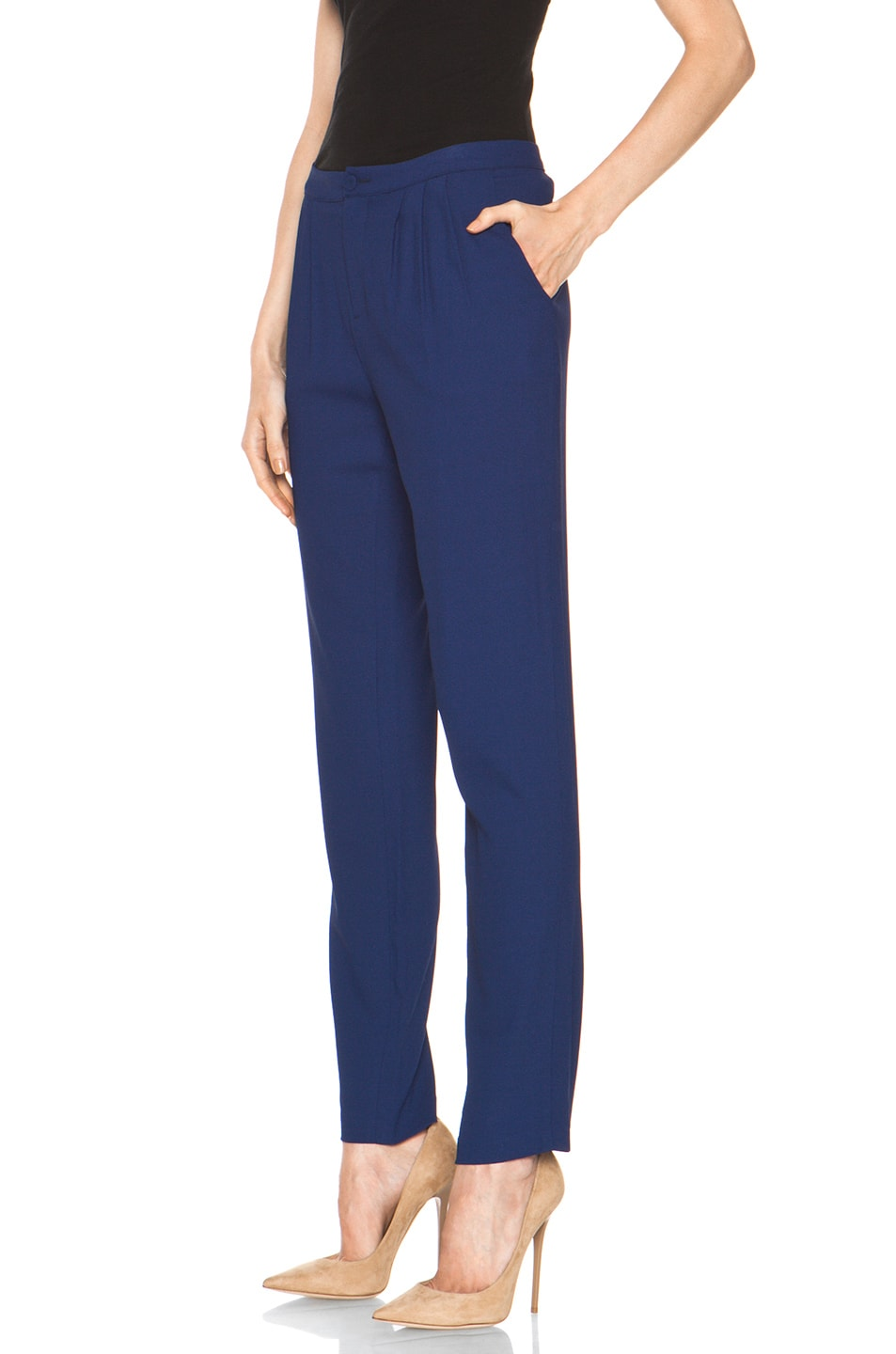 Image 2 of Girl. by Band of Outsiders Ami Pant in Twilight Blue
