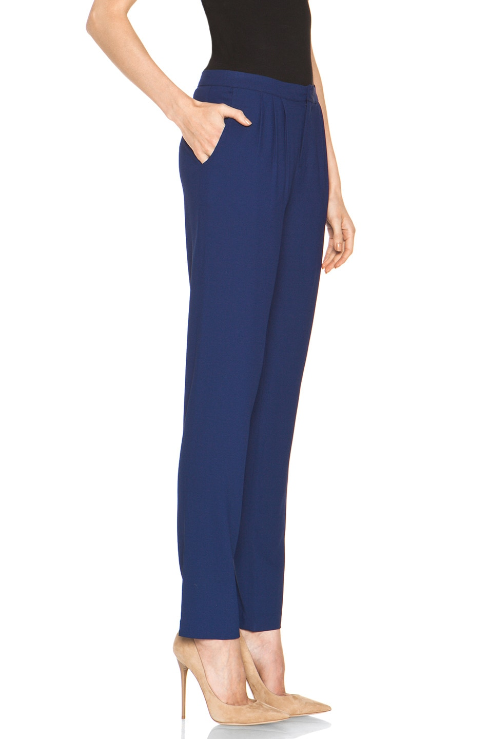 Image 3 of Girl. by Band of Outsiders Ami Pant in Twilight Blue