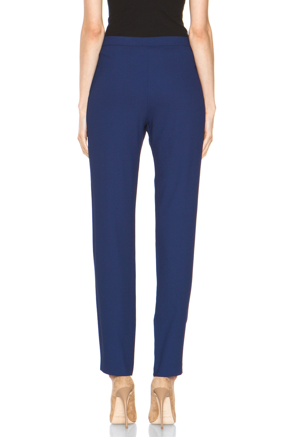 Image 4 of Girl. by Band of Outsiders Ami Pant in Twilight Blue