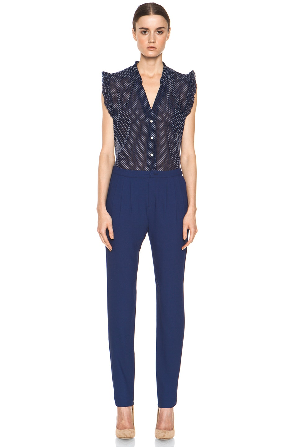 Image 5 of Girl. by Band of Outsiders Ami Pant in Twilight Blue