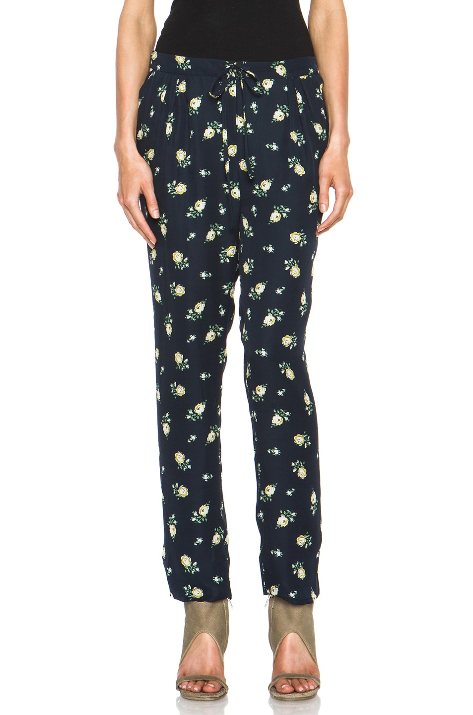 Image 1 of Girl. by Band of Outsiders Falling Rose Pant in Navy