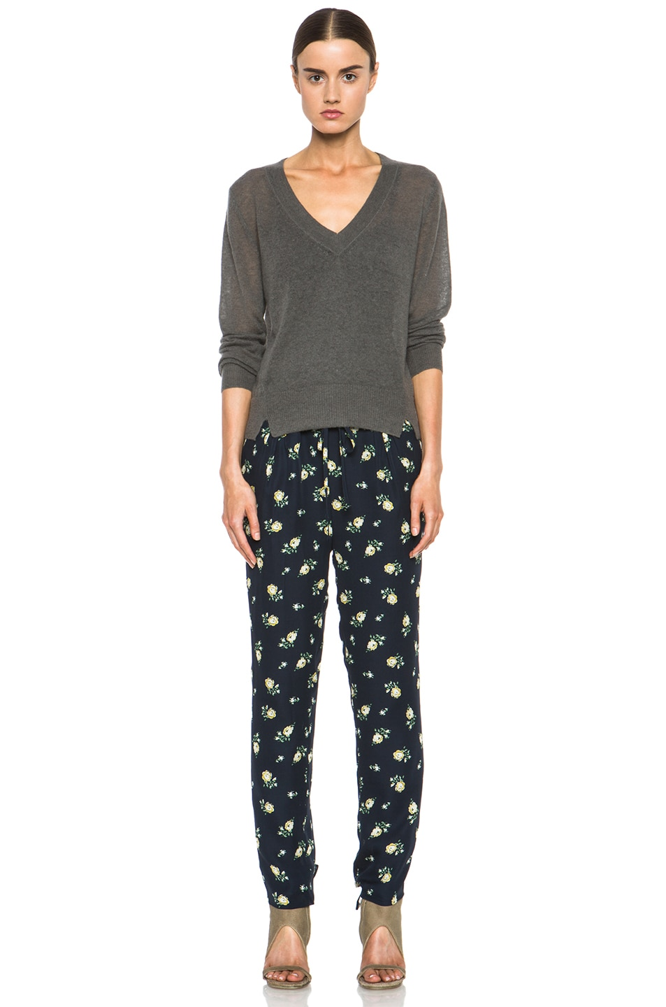 Image 5 of Girl. by Band of Outsiders Falling Rose Pant in Navy