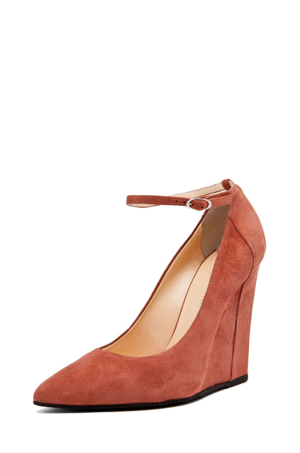 Image 2 of Giuseppe Zanotti Kill Ankle Strap Wedge in Nude