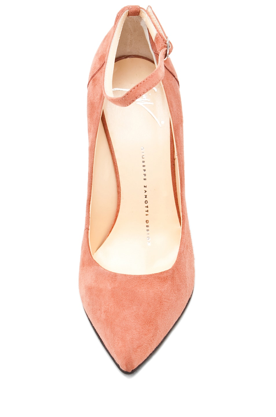 Image 4 of Giuseppe Zanotti Kill Ankle Strap Wedge in Nude