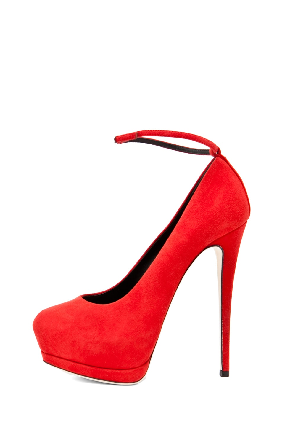 Image 1 of Giuseppe Zanotti Eva Ankle Strap Platform Pump in Red