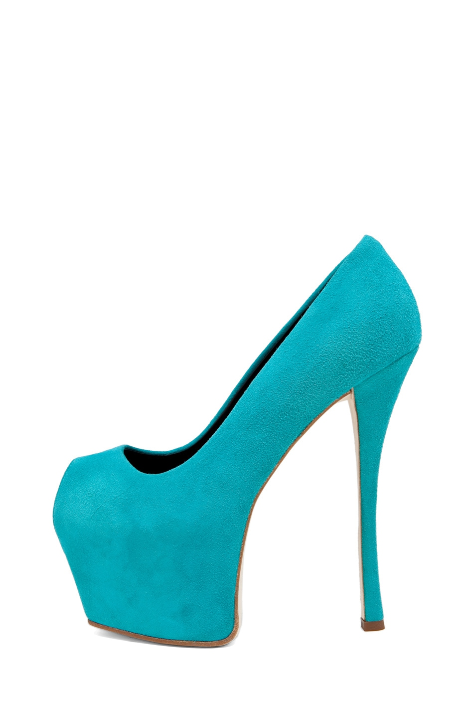 Image 1 of Giuseppe Zanotti Platform Pump in Turquoise