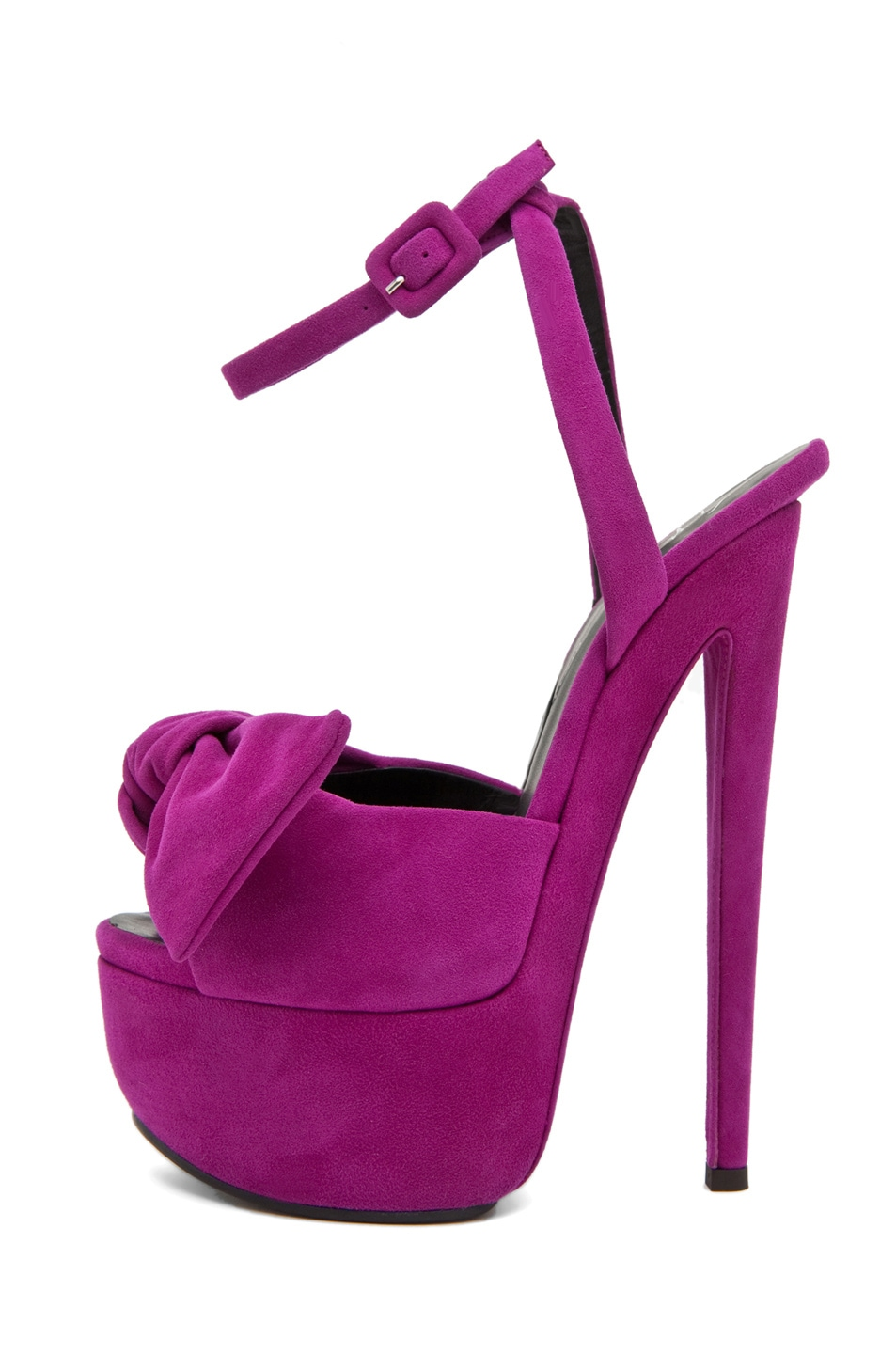 Image 1 of Giuseppe Zanotti Platform Heel with Bow in Fuschia