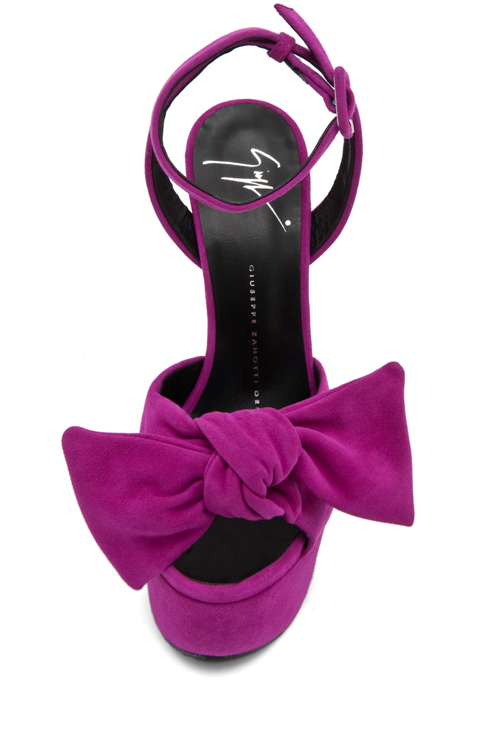 Image 4 of Giuseppe Zanotti Platform Heel with Bow in Fuschia