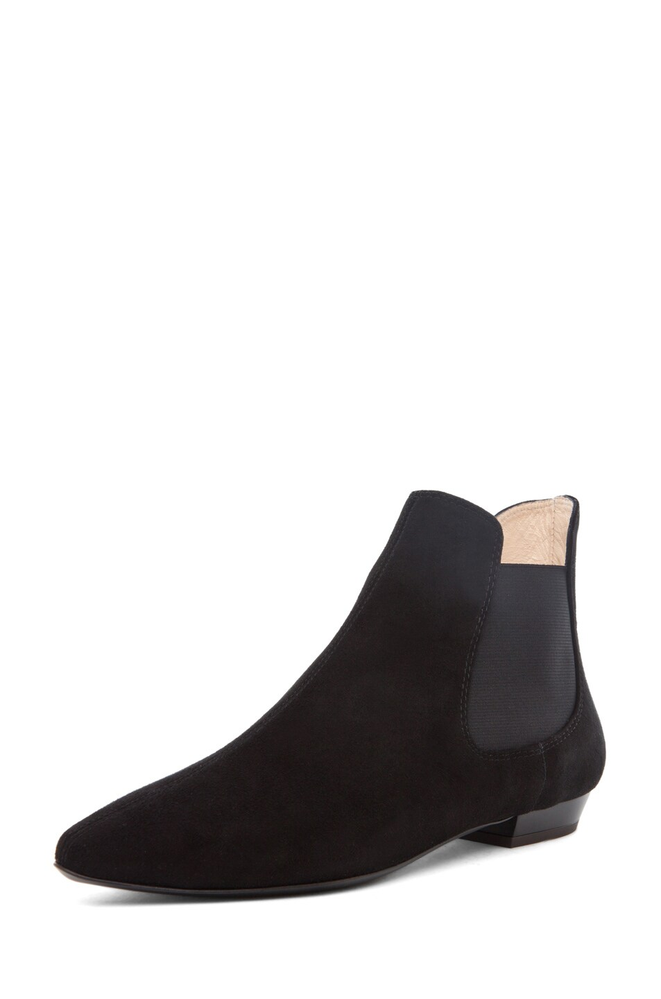 Image 2 of Giuseppe Zanotti Flat Bootie Suede in Black