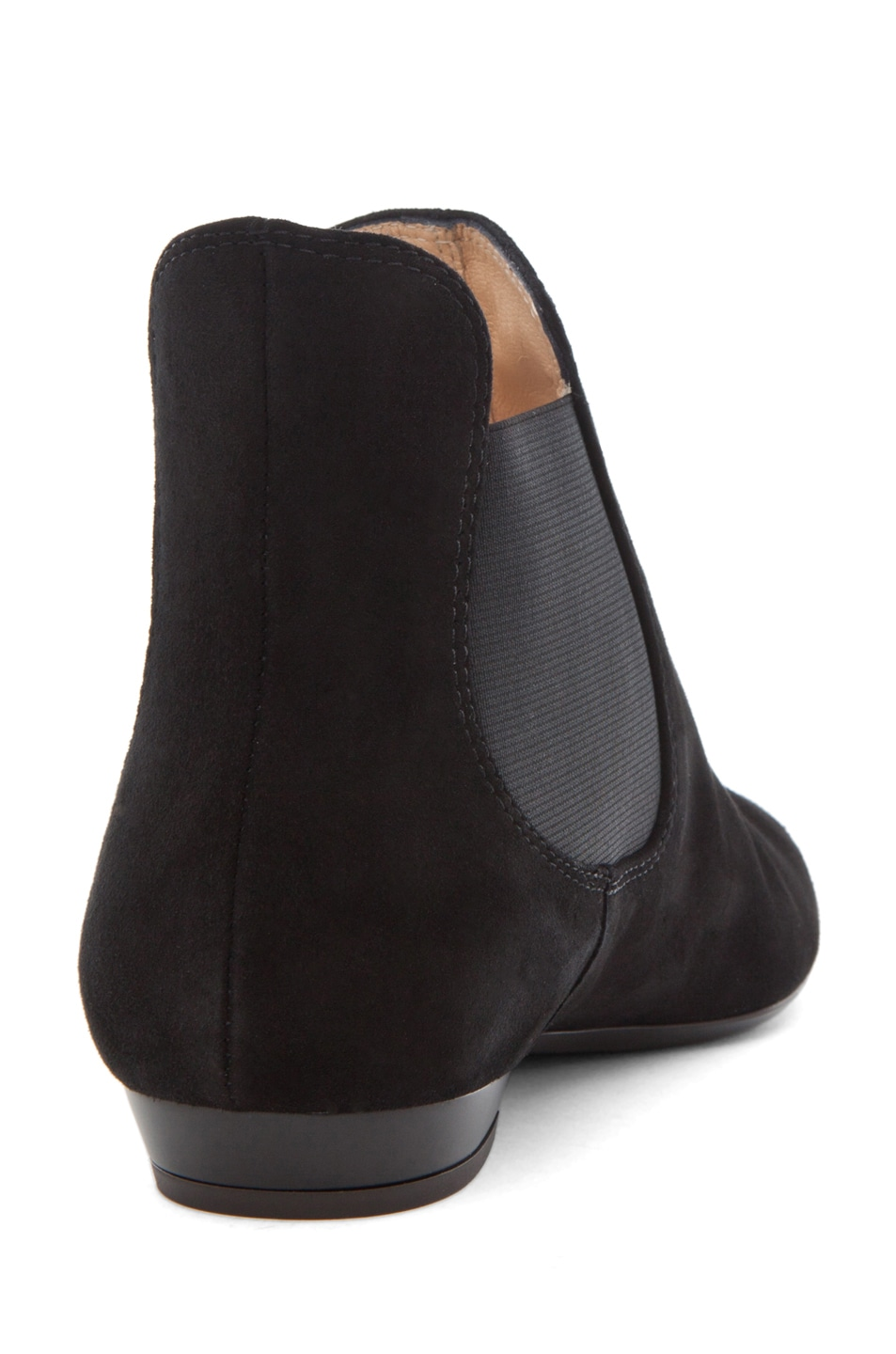Image 3 of Giuseppe Zanotti Flat Bootie Suede in Black