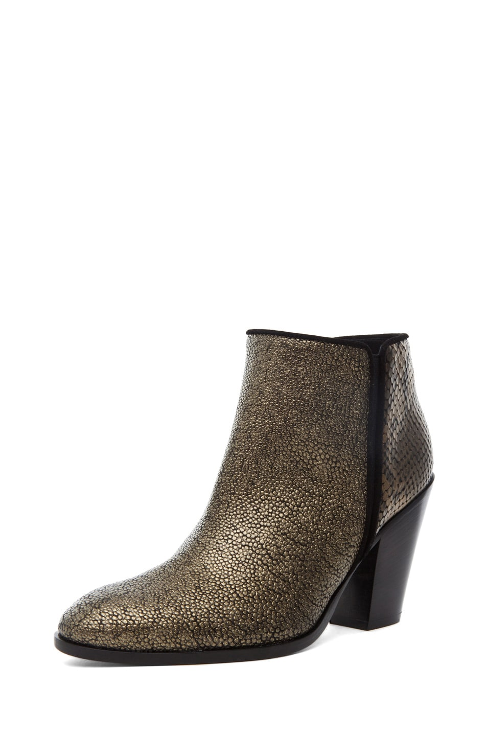 Image 2 of Giuseppe Zanotti Mixed Print Bootie in Bronze