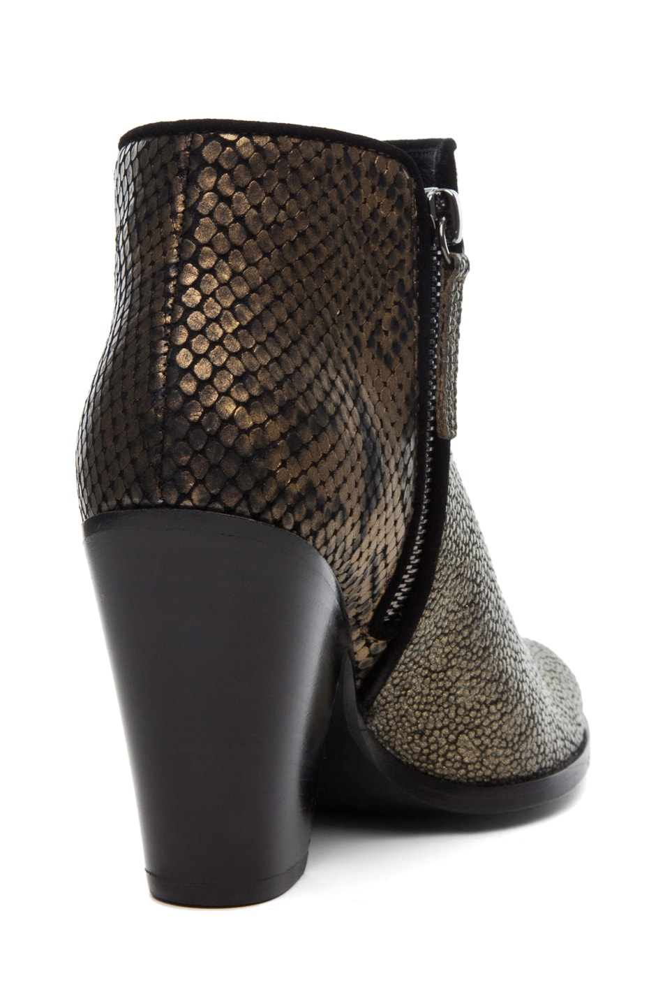 Image 3 of Giuseppe Zanotti Mixed Print Bootie in Bronze