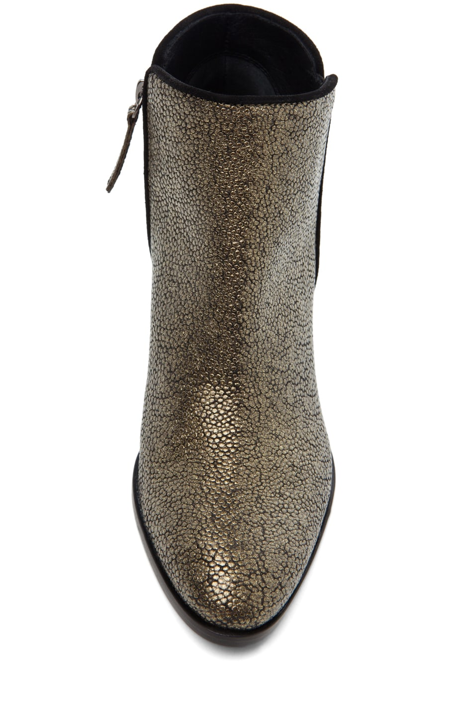 Image 4 of Giuseppe Zanotti Mixed Print Bootie in Bronze