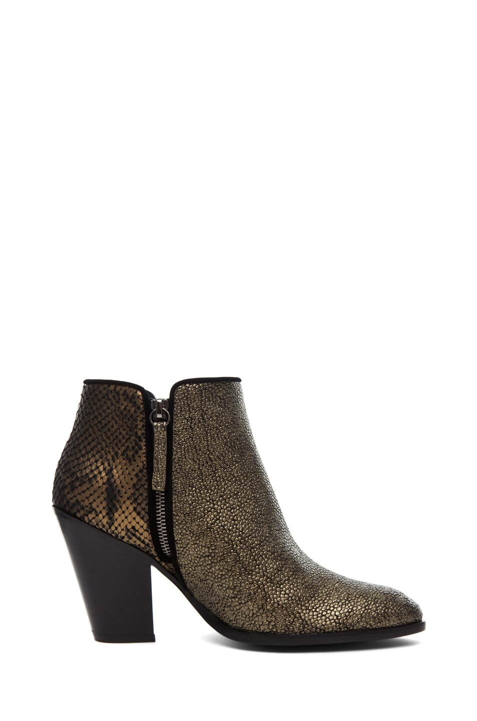 Image 5 of Giuseppe Zanotti Mixed Print Bootie in Bronze