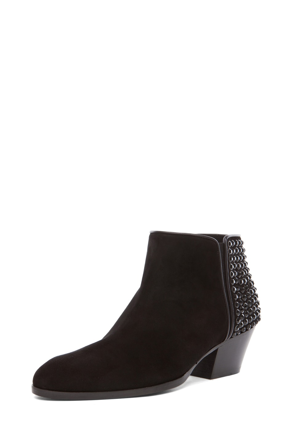 Image 2 of Giuseppe Zanotti Embellished Daddy Bootie in Black Suede