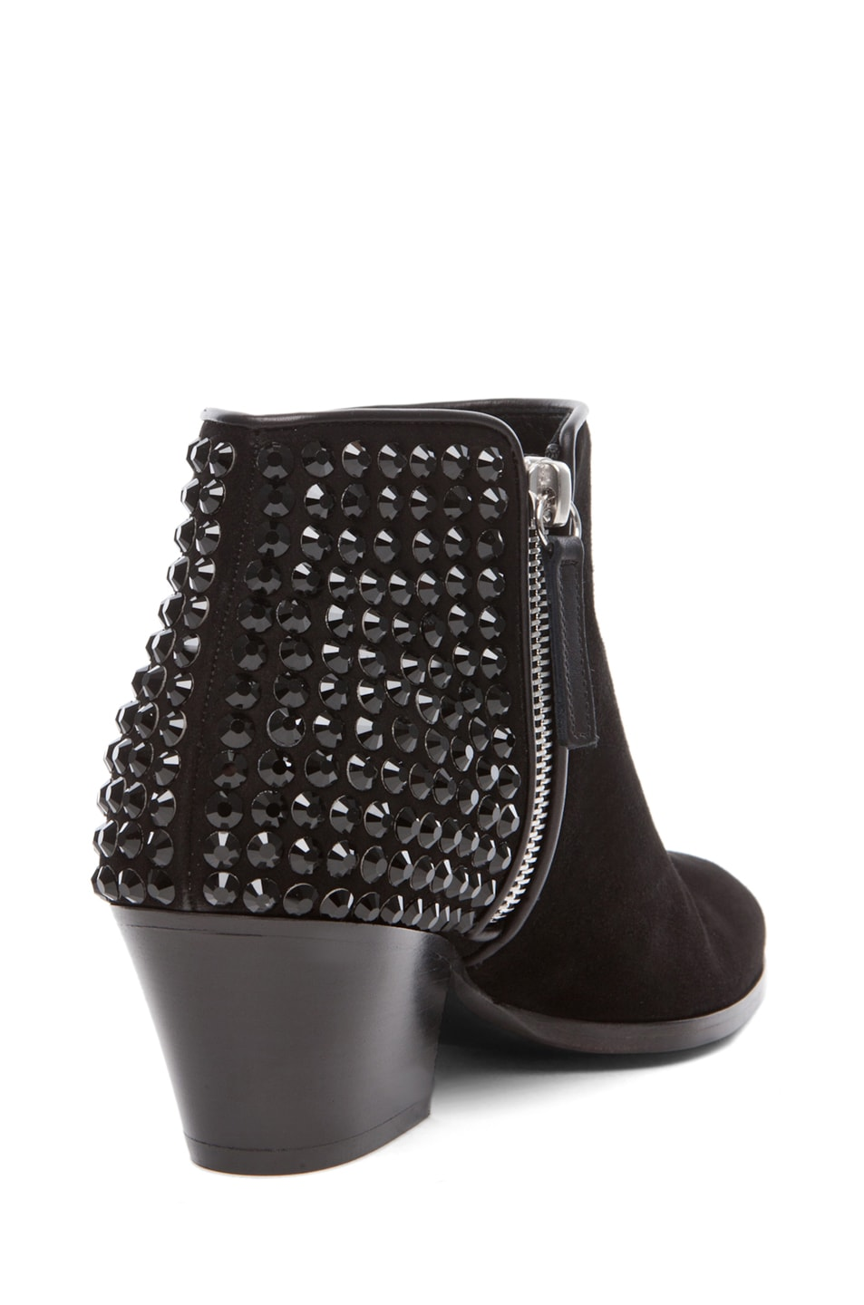 Image 3 of Giuseppe Zanotti Embellished Daddy Bootie in Black Suede