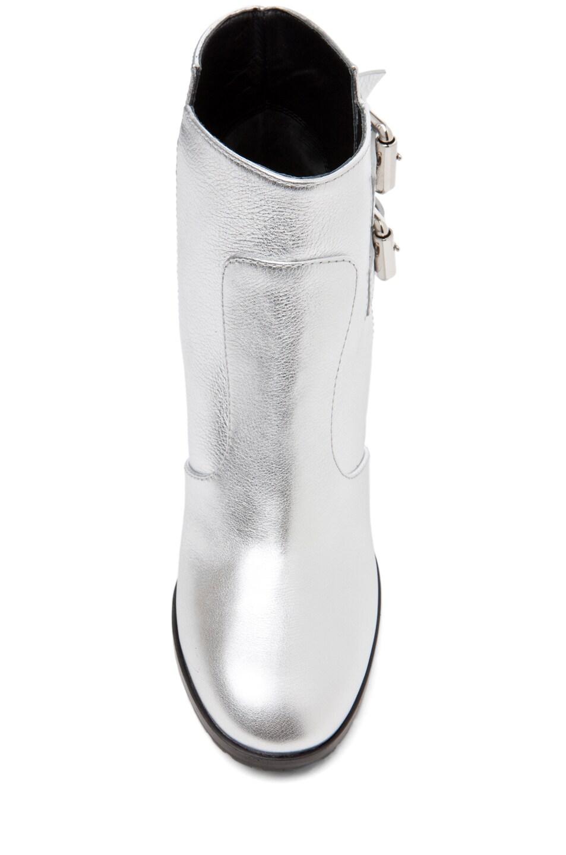 Image 4 of Giuseppe Zanotti Nikita Metallic Bootie in Silver