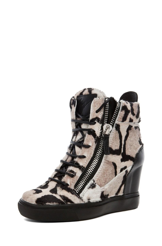 Image 2 of Giuseppe Zanotti Wedge Sneaker in Leopard