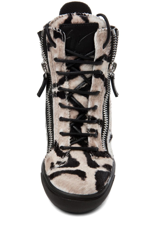 Image 4 of Giuseppe Zanotti Wedge Sneaker in Leopard