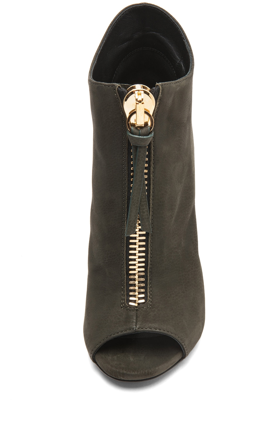Image 4 of Giuseppe Zanotti Suede Zip Up Ankle Boot in Olive