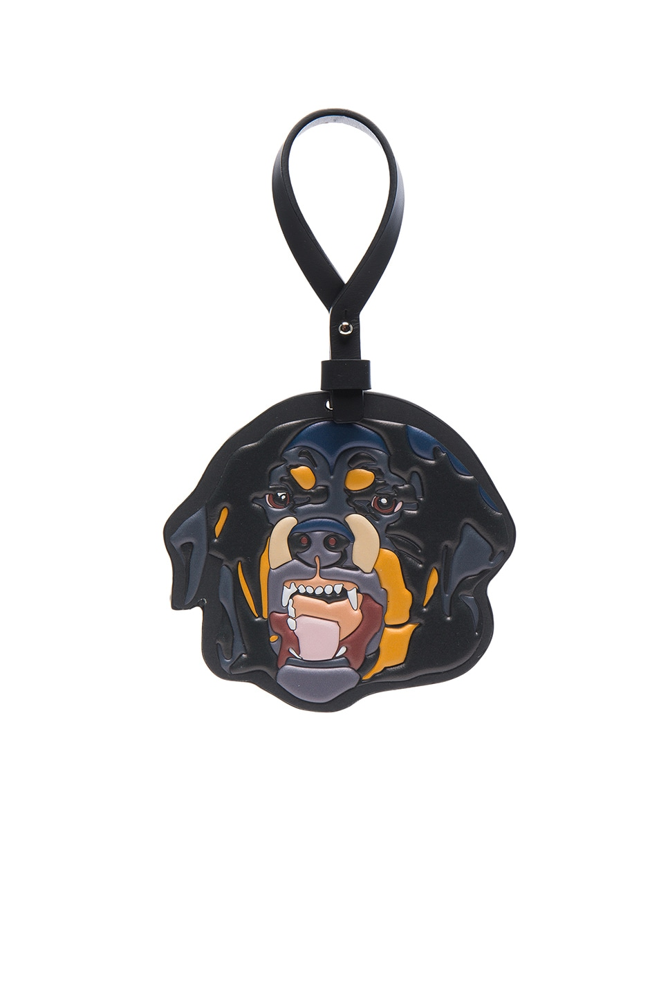 givenchy s leather rottweiler charm for bag or