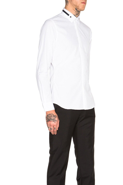 Givenchy star stripe collar button down shirt white for White button down collar shirt