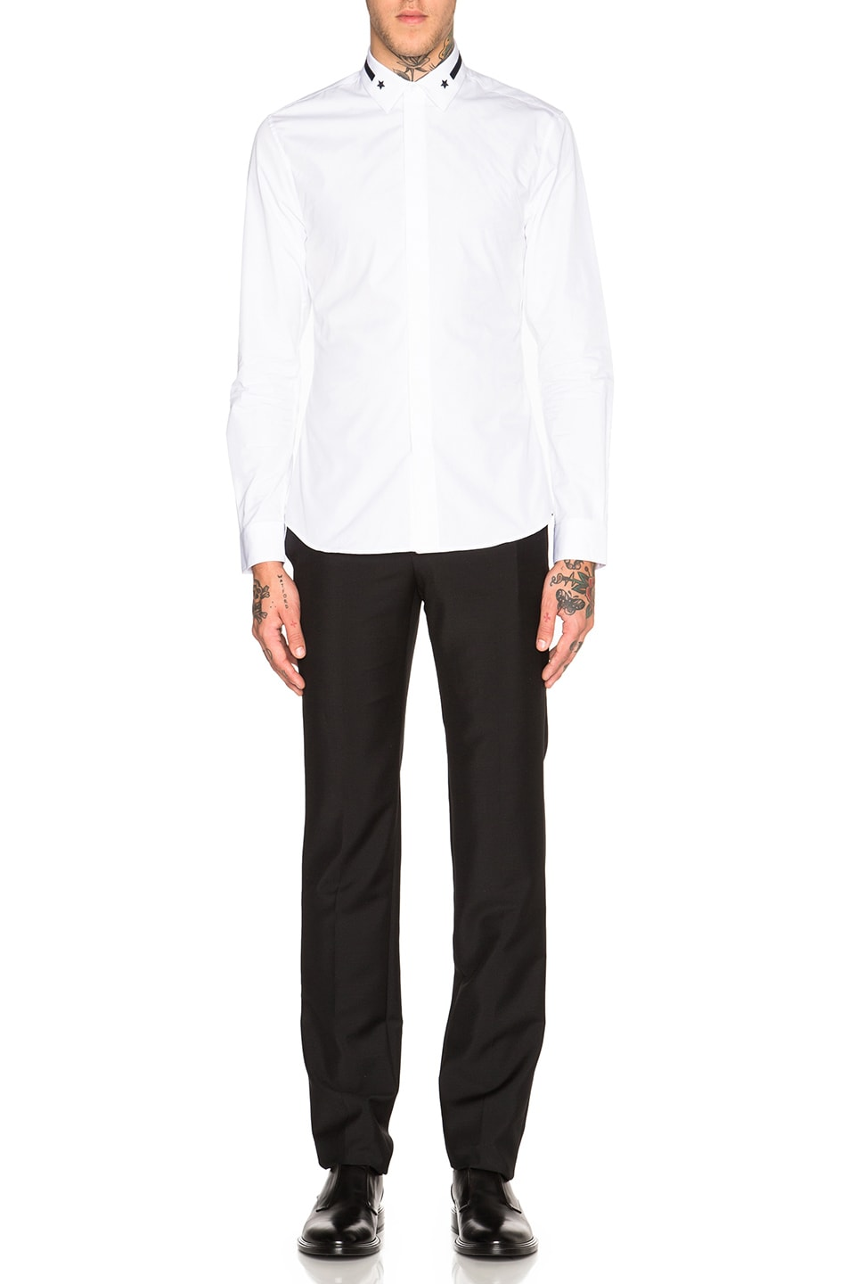 8 stores in stock givenchy star stripe collar button for Givenchy 5 star shirt